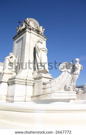 Columbus Fountain outside Union Station - Washington D.C. - stock photo