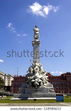 Columbus' monument. Buenos Aires, Artentina - stock photo