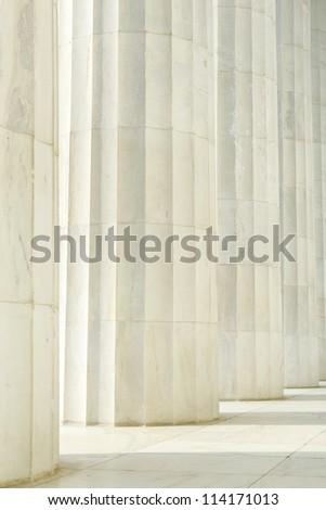 Column Pillars in a Row - stock photo