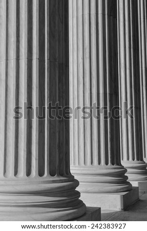 Columns at the Supreme Court of the United States - stock photo