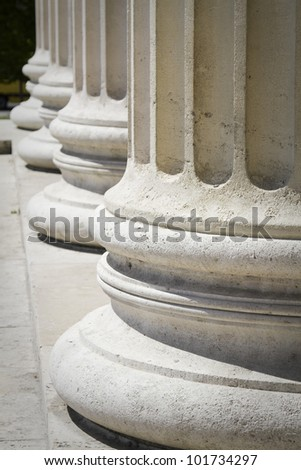 columns in budapest - stock photo
