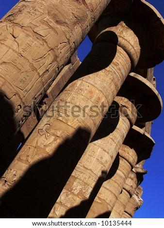 Columns in Karnak temple, Luxor, Egypt - stock photo