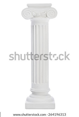 Columns isolated on white - stock photo