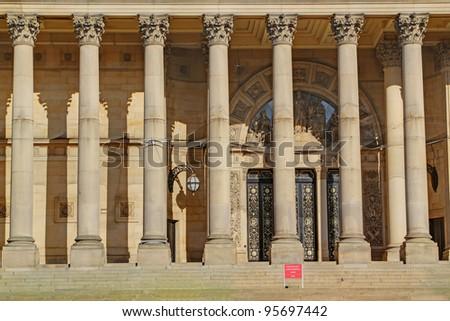 Columns, Leeds Town Hall - stock photo