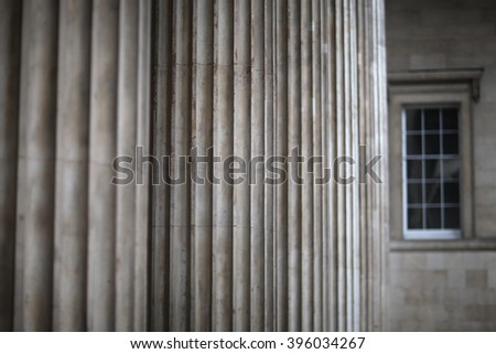 Columns of classical architecture - stock photo