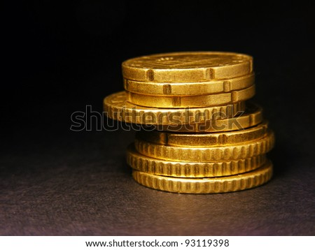 Columns of Coins. Finance concept. - stock photo