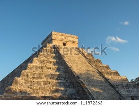 Columns of the kings, kukulkan, landmark, Chichen Itza Mayan Ruins in Riviera Maya, Mexico - stock photo