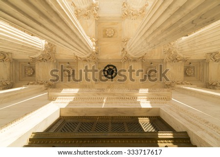 Columns of the  Supreme Court of U.S. - stock photo