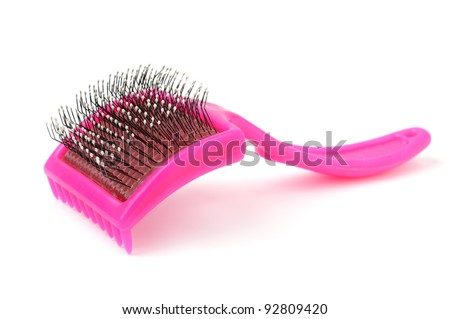 Comb for the animals. - stock photo