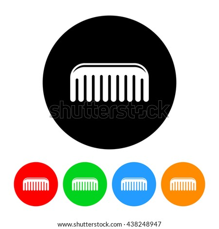Comb Icon with Four Color Variations.  Raster Version - stock photo