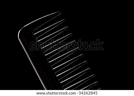 comb silhouette - stock photo