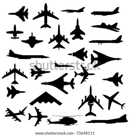Combat aircraft. Team.   illustration for designers - stock photo