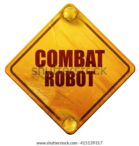 combat robot sign background, 3D rendering, isolated grunge yell - stock photo