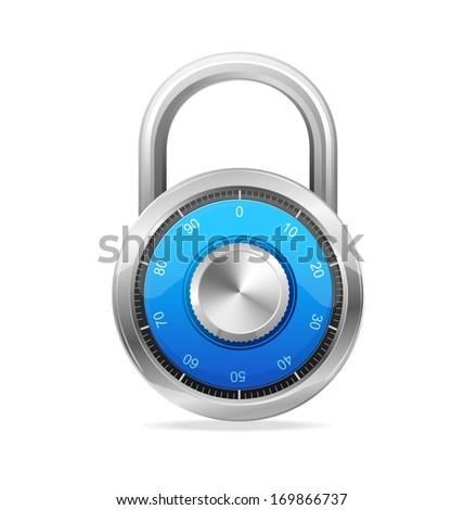 Combination Lock, Security Concept.  padlock - stock photo