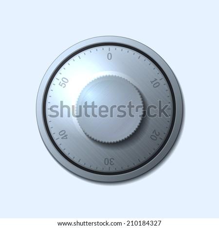Combination lock wheel on light background.  illustration - stock photo