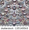 Combination of Thai and Chinese art in decoration. - stock photo