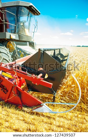 combine close up - stock photo