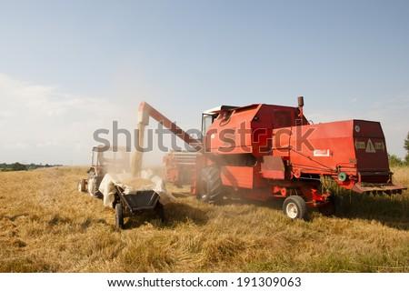 Combine Harvester - Poland - stock photo