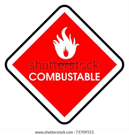 Combustable - stock photo