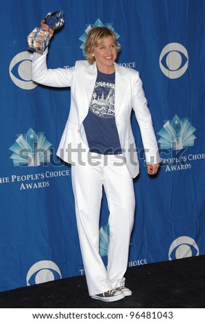 Comedienne ELLEN DEGENERES at the 2006 People's Choice Awards in Los Angeles. January 10, 2006  Los Angeles, CA  2006 Paul Smith / Featureflash - stock photo