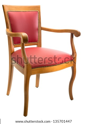 Comforable armchair isolated on white background - stock photo