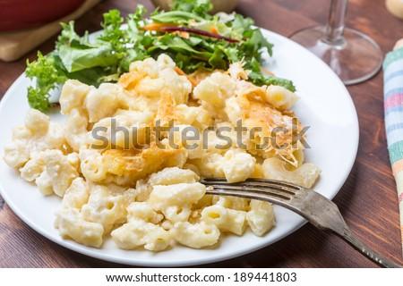 Comfort Homemade Macaroni and Cheese - stock photo