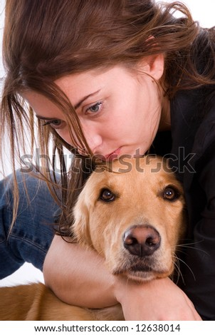Comfort hug. - stock photo