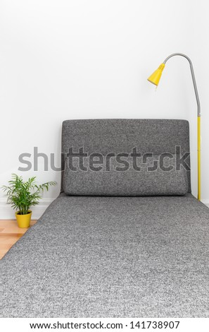 Comfortable chaise longue in a contemporary living room. Modern decor. - stock photo