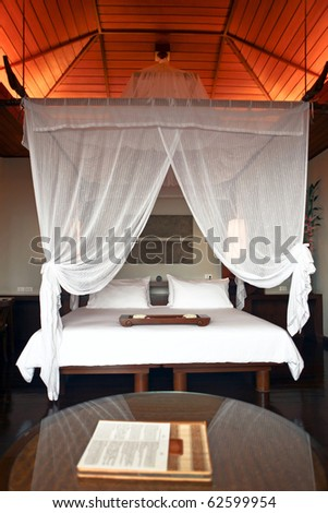 Comfortable room in luxury hotel - stock photo