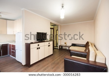Comfortable room in the house -  sofa in the apartment - stock photo