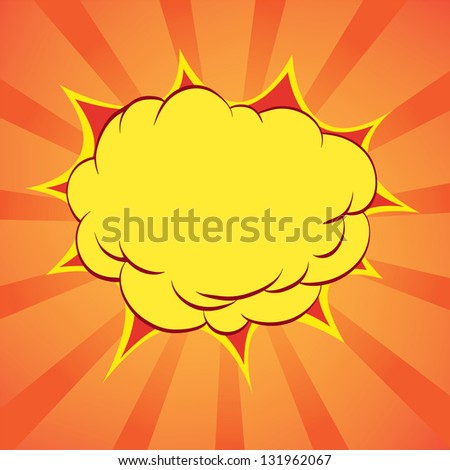 Comic book explosion, raster - stock photo
