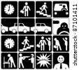 comic human life - stock photo