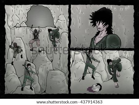 comic scene - stock photo