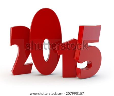 comical figures of new year 2015 - stock photo