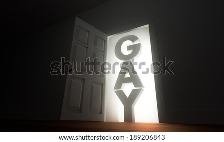 Coming out - stock photo