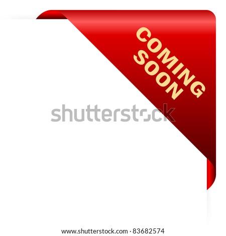 Coming soon paper corner - stock photo