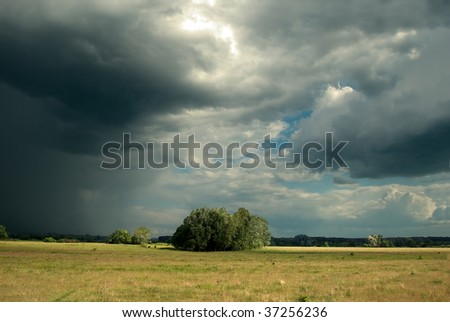 Coming Storm - stock photo