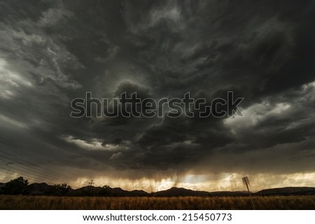 Coming Storm. Colorado Front Range Summer Storm. - stock photo