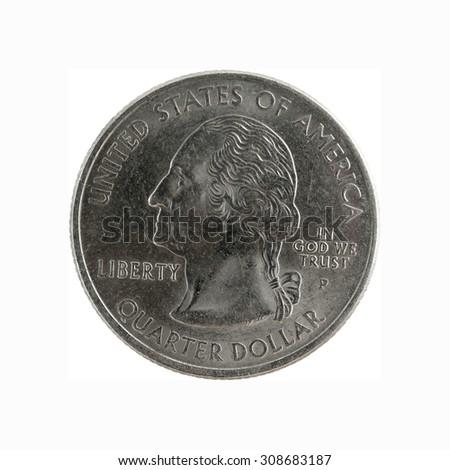 Commemorative coin 25 cents South Carolina  - stock photo