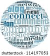 comment and like  info-text graphics and arrangement concept on white background (word cloud) - stock photo