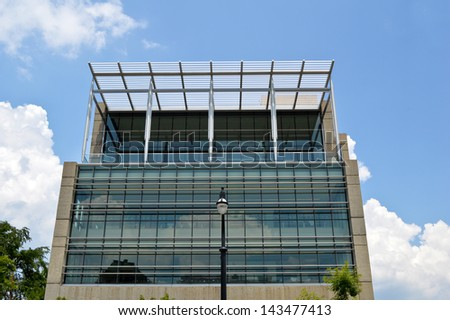 Commercial Building with Retail and Office Space - stock photo