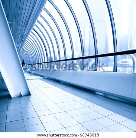 commercial diminishing walkway - stock photo
