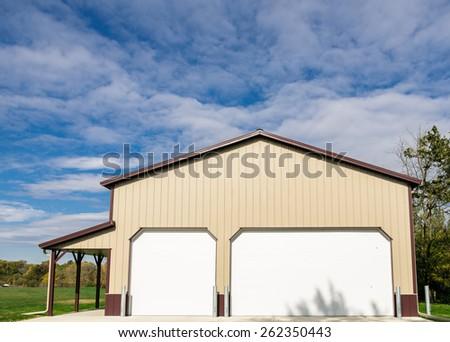 Commercial Maintenance facilities Garage - stock photo