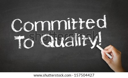 Commited to Quality Chalk Illustration - stock photo