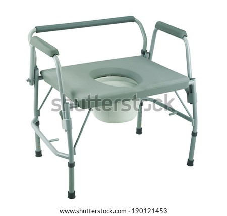 commode  chair with clipping path - stock photo