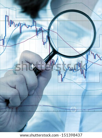 Commodity trading concept with businesswoman - stock photo