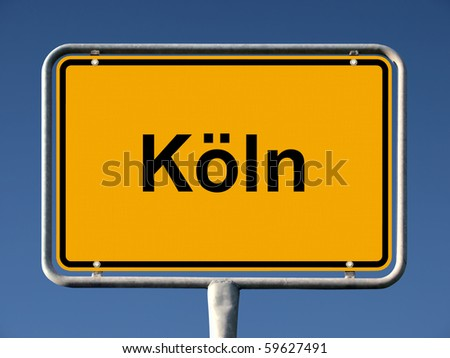 Common city sign of Köln (Cologne), Germany - stock photo