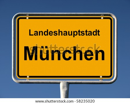Common city sign of München (Munich), Germany - stock photo