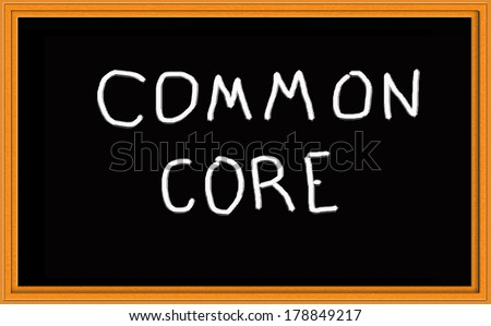 Common Core Chalkboard - stock photo