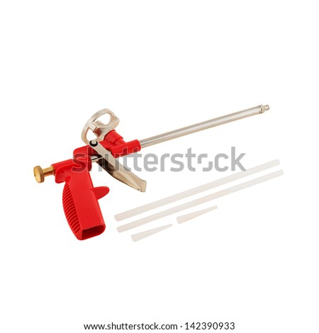 Common glue gun isolated on white background - stock photo